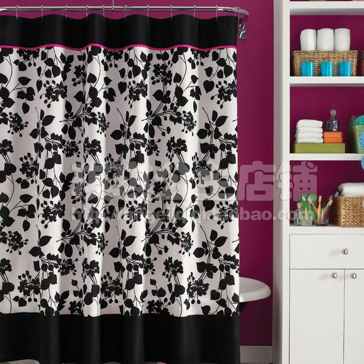 Mainstays Kids I Love Paris Shower Curtain Walmart regarding size 2000 X 2000 Pink And Black Shower Curtains - Shower curtai