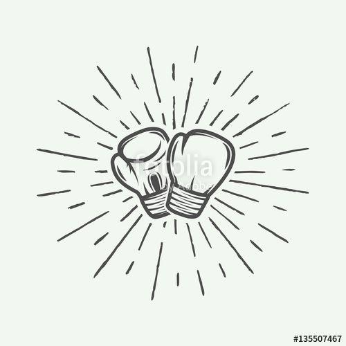 Les 25 meilleures id es de la cat gorie tatouage de gants de boxe sur pinterest tatouages de - Dessin gant de boxe ...