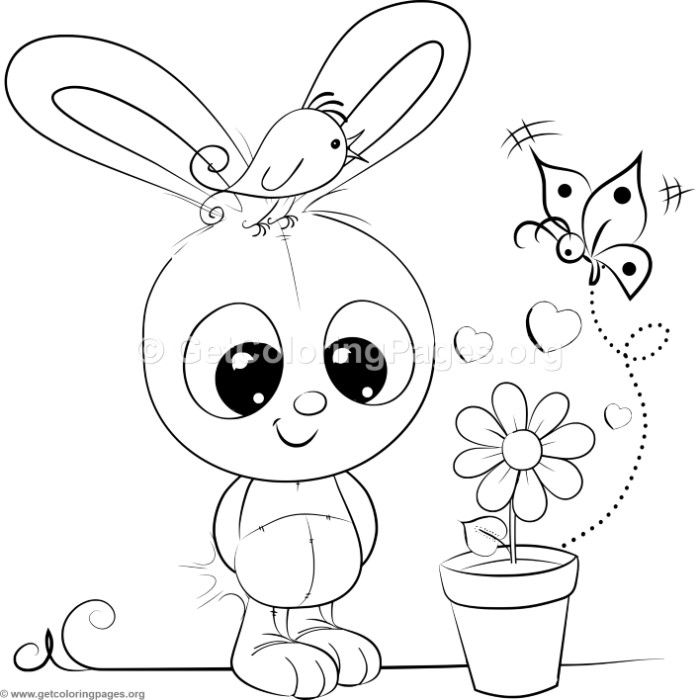 Cute Rabbit 4 Coloring Pages Unicorn Coloring Pages Cute Coloring Pages Coloring Pages