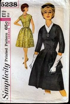 Idle Fancy: Miss Mavis Goes to the Opera: Vintage Simplicity 5238