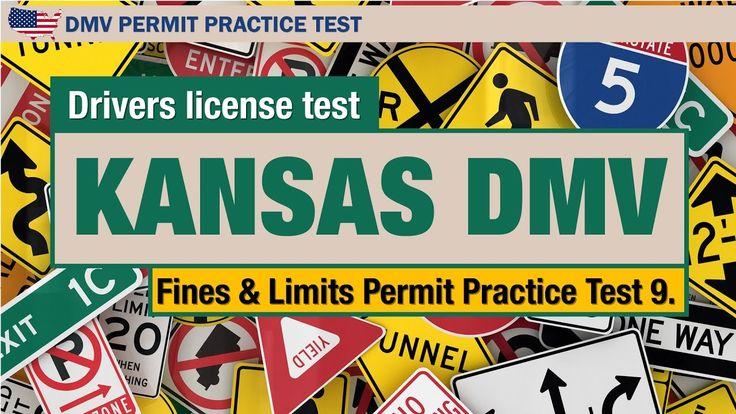 Drivers license test: Kansas DMV Fines & Limits Permit Practice Test 9