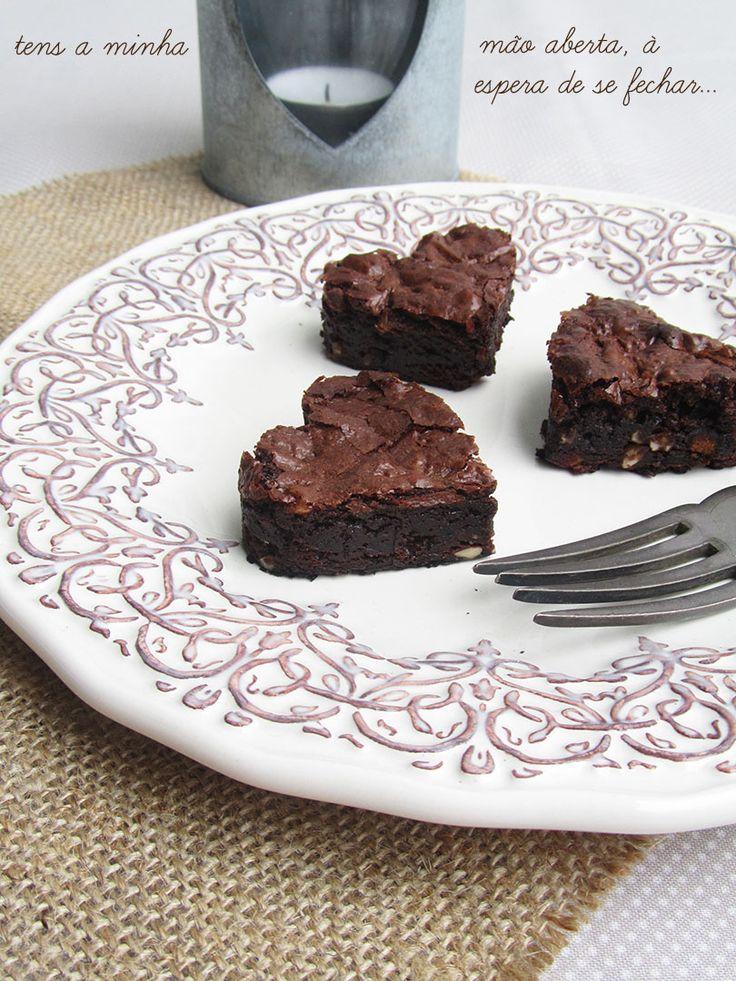 Ananás e Hortelã: Coração de Brownie