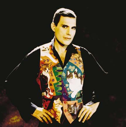 Where to start with Freddie Mercury??  This was the last official photo of him, for the video of Those Were The Days Of Our Lives - and even just thinking of that video/song has me in tears still!  Another legend.
