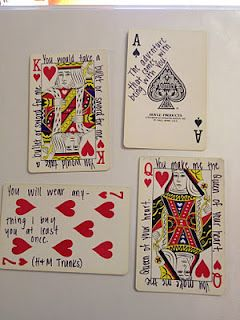 52 Things I Love About You cards and still usable! what acute anniversary or valentines day or just because gift - PRECIOUS. We love playing cards! - We actually did this for my dad and put them in his casket.