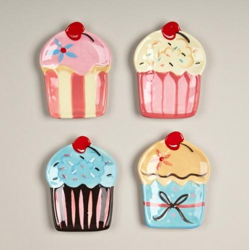 Cupcake Plates.: Cupcake Obsession, Cupcake Plates Soo, Ideas, Cupcake Decor, Things Cupcake, Cupcake Kitchens, Plates Sets, Cupcake 4Pc, Cupcake Love