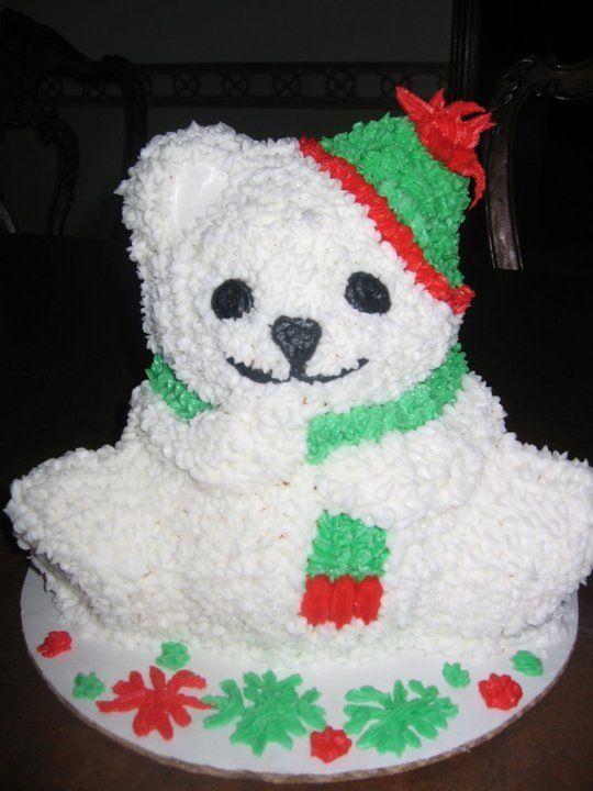 Christmas Cake Ideas Wilton : Christmas cake. I used Wilton 3D Bear pan. Wilton ...