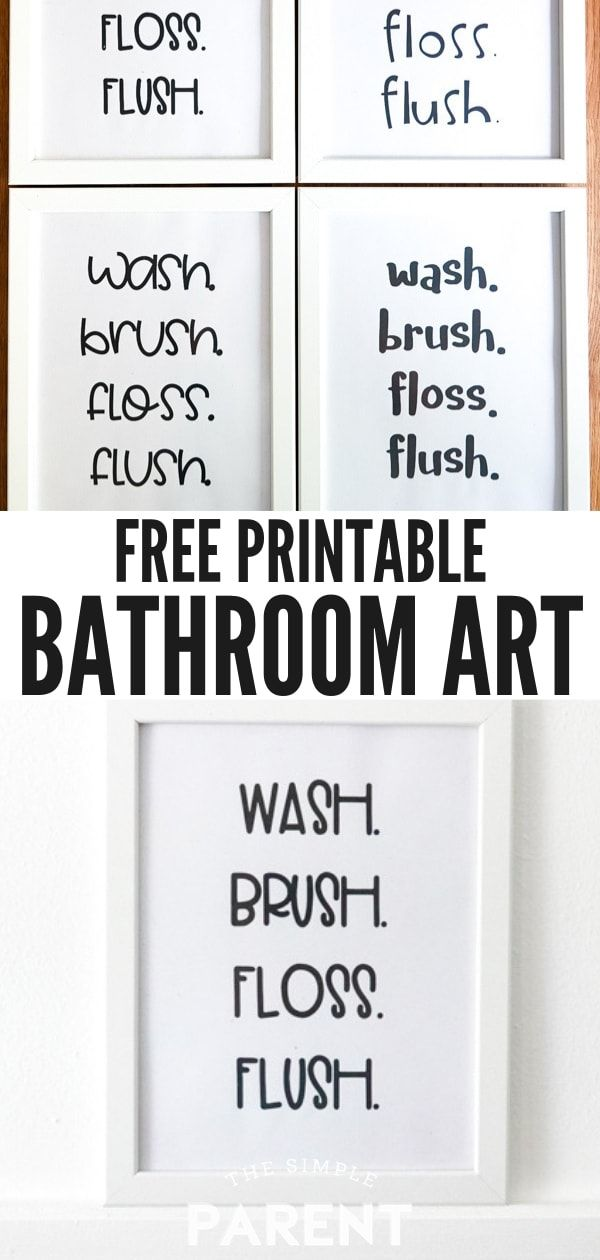 Free Printable Bathroom Signs In Black And White Make It Easy To