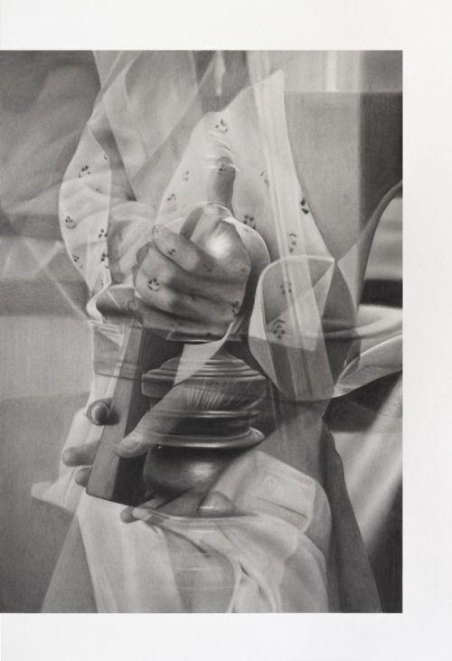 Tim Plamper, Handlung #01, 2015 Bleistift auf Papier, 50,5 x 34,5 cm, Kunstverein Eislingen.   Egbert Baqué Contemporary Art, Berlin