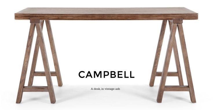 Campbell Desk in vintage ash | made.com