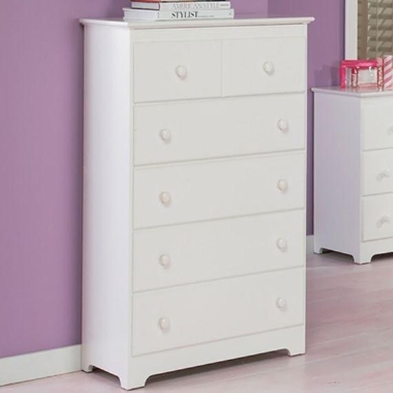 Tall White Wicker Dresser