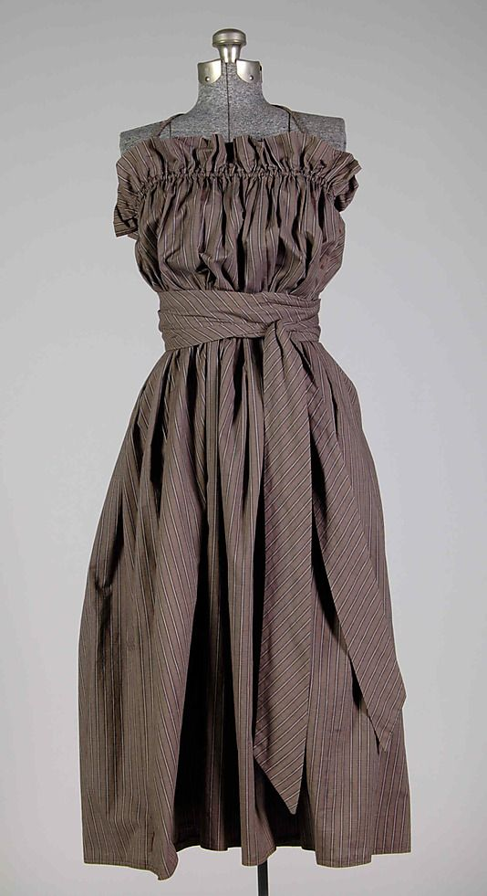 Claire McCardell sundress in cotton. 1946. Brooklyn Museum Costume Collection at The Metropolitan Museum of Art, Gift of the Brooklyn Museum, 2009; Gift of Claire McCardell, 1956