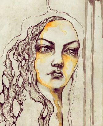 sketchbook - pensive girl