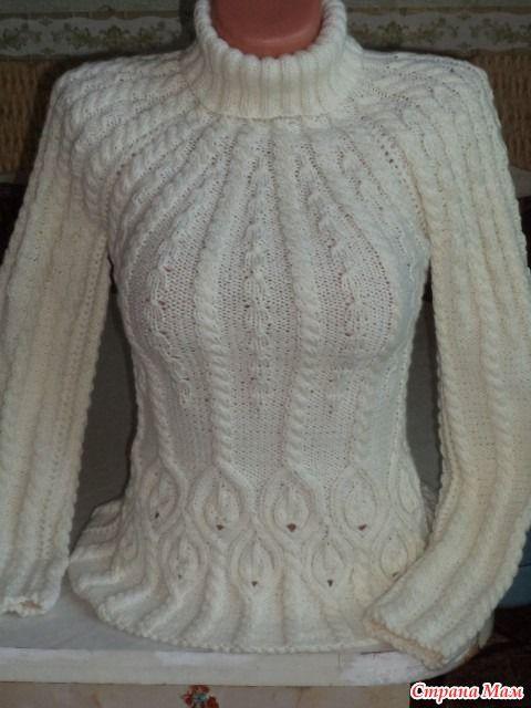 Вяжем белый свитер с косами. Опрос был тут http://www.stranamam.ru/  Предлагаю в этом онлайне вязать модельки 1, 2, 3. Они все вяжутся регланом  1.  2.  3.
