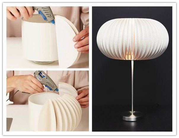 Lamp. Paper Plates.  Крутой абажур своими руками (Diy)