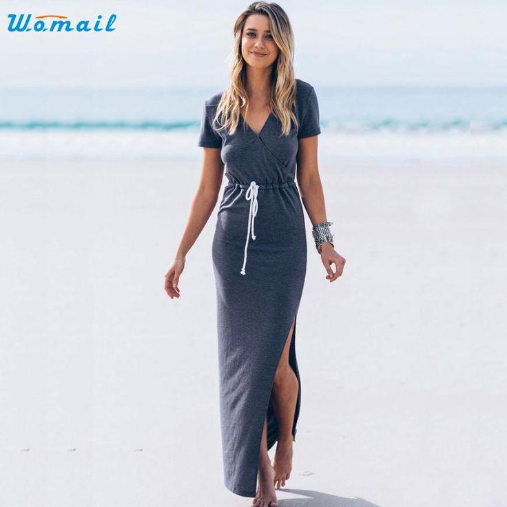 2017 zomer dress vrouwen v hals korte mouw furcal lange maxi dress vestidos strand jurken verbazingwekkende sml xl in 2017 zomer dress vrouwen v-hals korte mouw furcal lange maxi dress vestidos strand jurken verbazingwekkende sml xl van jurken op AliExpress.com | Alibaba Groep