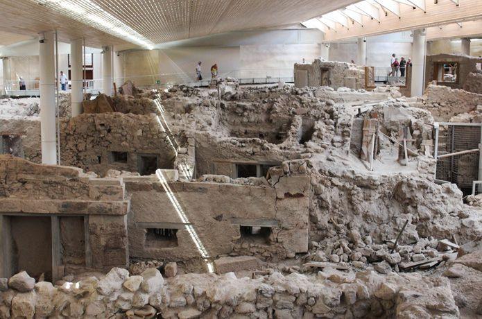 Visit the excavations of Akrotiri