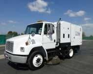 2003 #FREIGHTLINER #FL70 $54,500.00 Cummins 5.9L, 230HP, #Allison #Automatic, Air #Brakes, A/C, Schwarze M6000 Twin #Engine #Mechanical #Sweeper, Deutz 4 #Cylinder Aux #Diesel, 75HP, 5 Cubic Yard Hopper, Variable High Dump (16-138), #Dual Gutters #Brooms, 58 Main Broom, Rebuilt Elevator, Water System, 350 Gallon Water Capacity, New Gutter Brooms, 5,214 Aux Engine Hours, Odometer Reading 75,200 Miles. Subject To CARB Regulations.