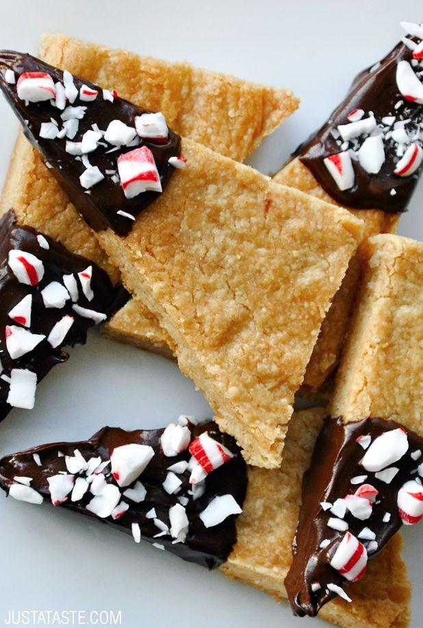 Brown Sugar Shortbread Cookies recipe via justataste.com