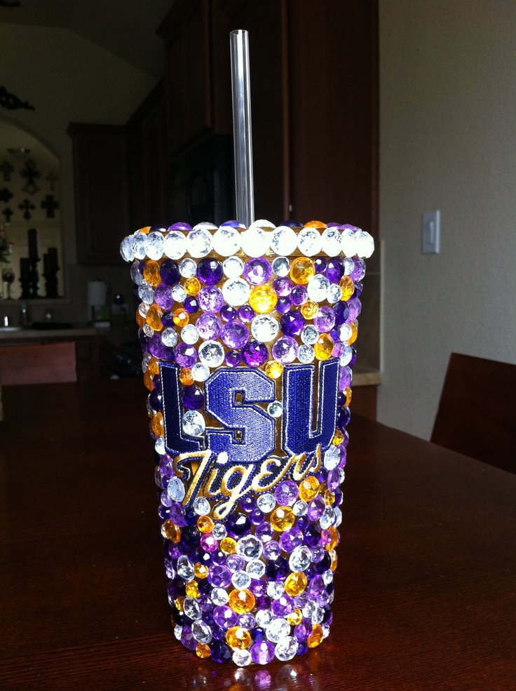 LSU Tigers Bling Tumbler