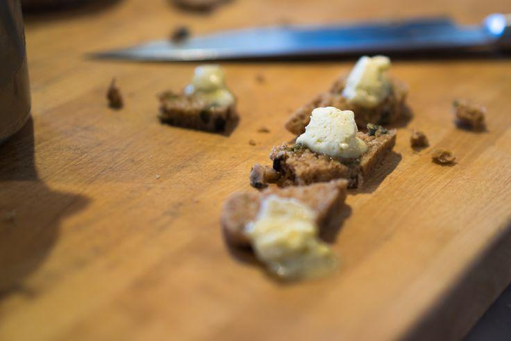 Raw Olive Bread with Preserved Lemon Butter. 100% Plant-Based & Raw. #vegan #plantbased #veganfood