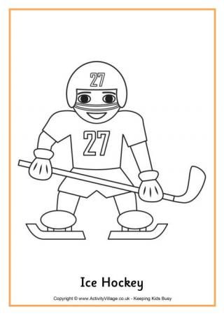 Winter sport ice hockey and colouring pages on pinterest for Ice hockey coloring pages