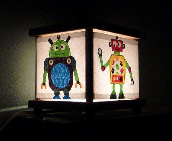 Robot Night Light Robots Decor Robot Nursery by babymamma1 on Etsy, $23.00