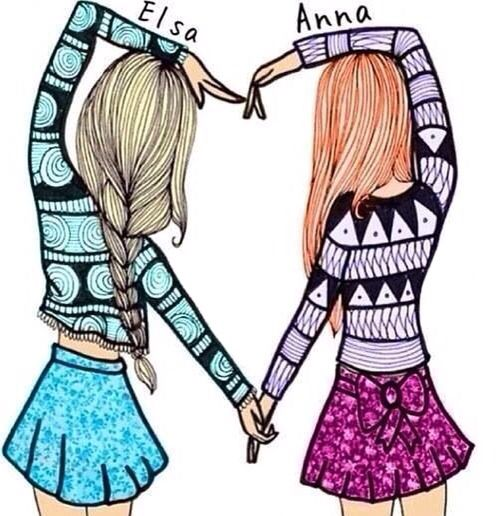 This is Elsa and Anna real names The Elsa is Elise and the Anna Annaliese they just love frozen so much they want that to be there names so close