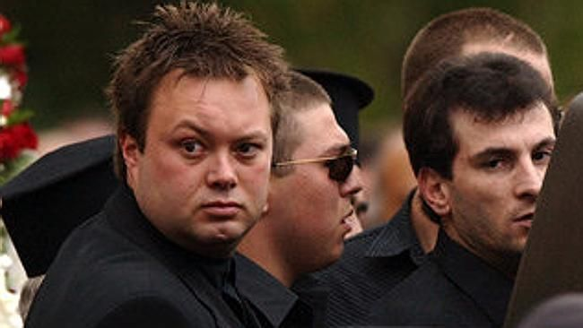 "Carl Williams at Andrew ""Benji"" Veniamin's funeral."