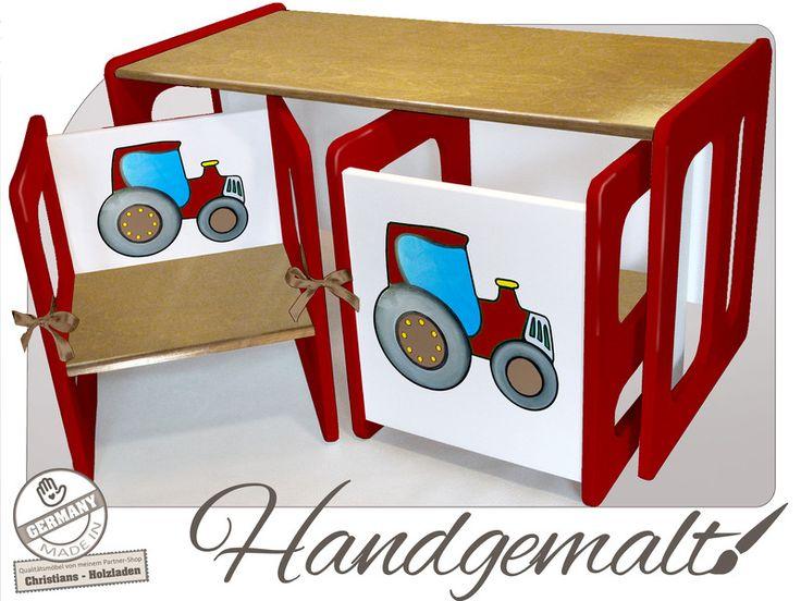Tische - Kinder Wendesitzgruppe TRAKTOR - ein Designerstück von Minigalerie bei DaWanda