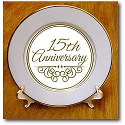 InspirationzStore Occasions - 15th Anniversary gift - gold text for celebrating wedding anniversaries - 15 years... for only $34.99 You save: $21.69 (38%)