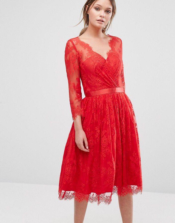 Chi Chi London Lace Overlay Dress