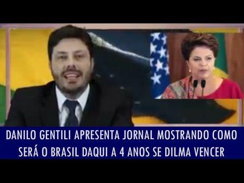 Danilo Gentili apresenta jornal mostrando como será o Brasil daqui 4 ano...