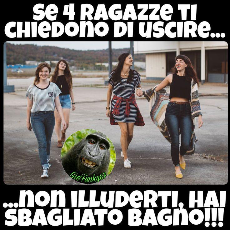 #funny #joke #battute #risate #indovinelli #humor #battute #immaginidivertenti #divertente #ridi #ridere #day #divertenti #italy #frasi #battutedivertenti #barzellette #illusione #risata #smile #crazy #ragazze #donne #illudersi #appuntamento #wc #bagno #girl #group #latinlover
