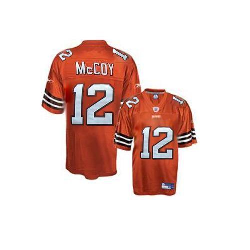 Reebok Cleveland Browns Colt McCoy 12 Orange Authentic Jerseys Sale
