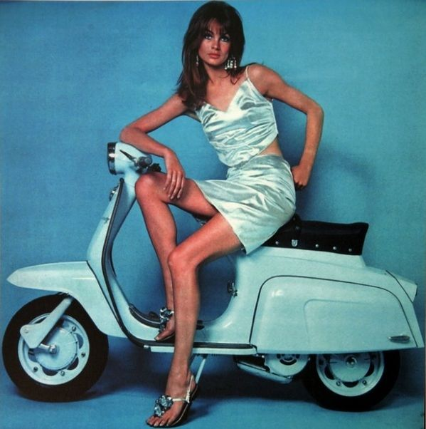 Jean Shrimpton for Lambretta Scooters, 1967.