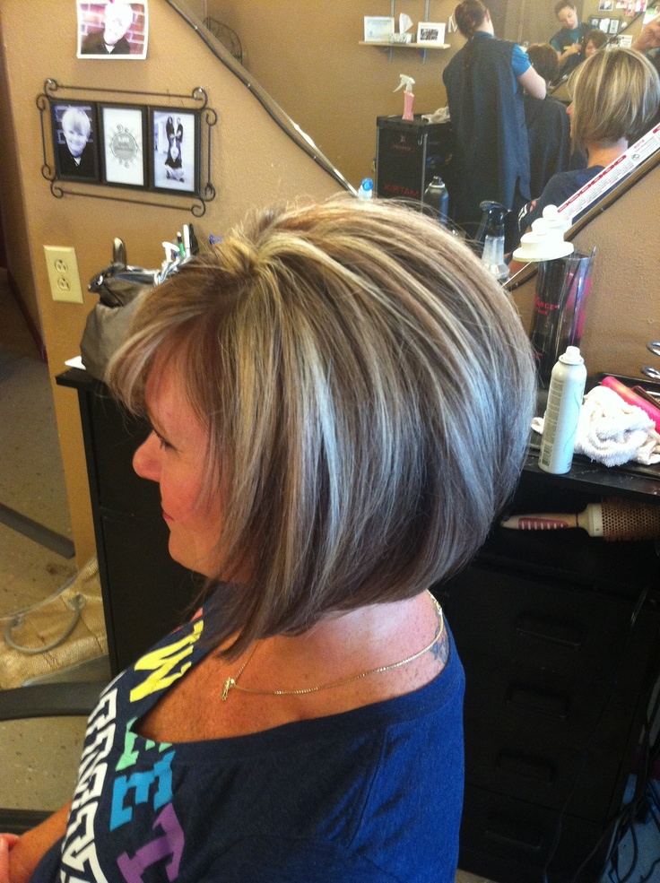 Stacked bob  Done at its a hair thing in Clarksville tn