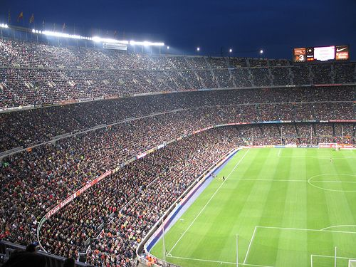 camp nou, Barcelona (just don't take your friend who hates heights)