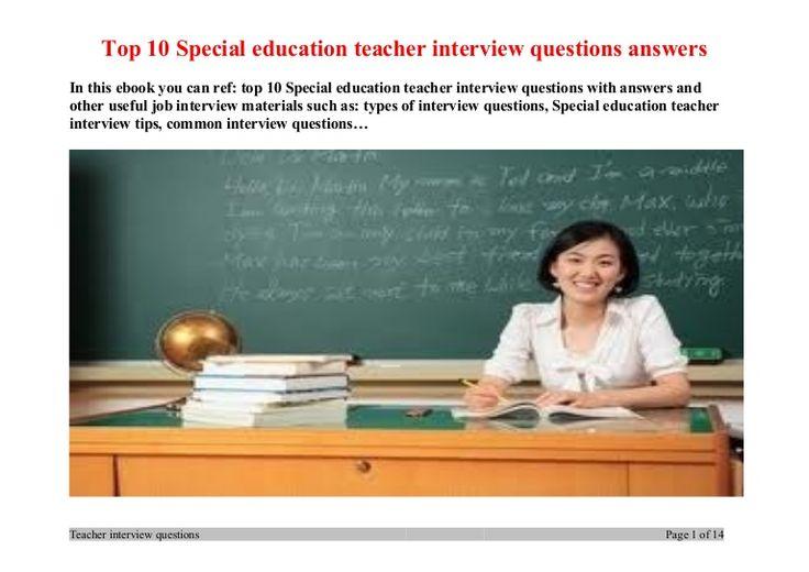 top-10-special-education-teacher-interview-questions-answers by ... Teaching Interview, Teacher Interviews, 10 Technology, Technology Education, Teacher Interview Questions, Special Education Teacher, Preschool Teacher ...