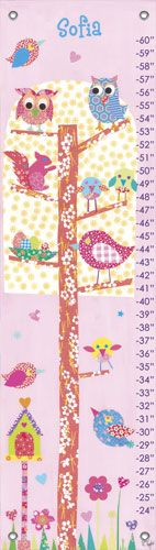 Personalized Owl Tree Growth Chart