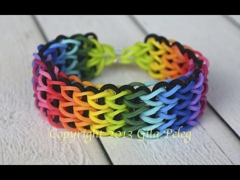 How to make a multicolor Rainbow Loom, Triple Single bracelet by Arty Crafty