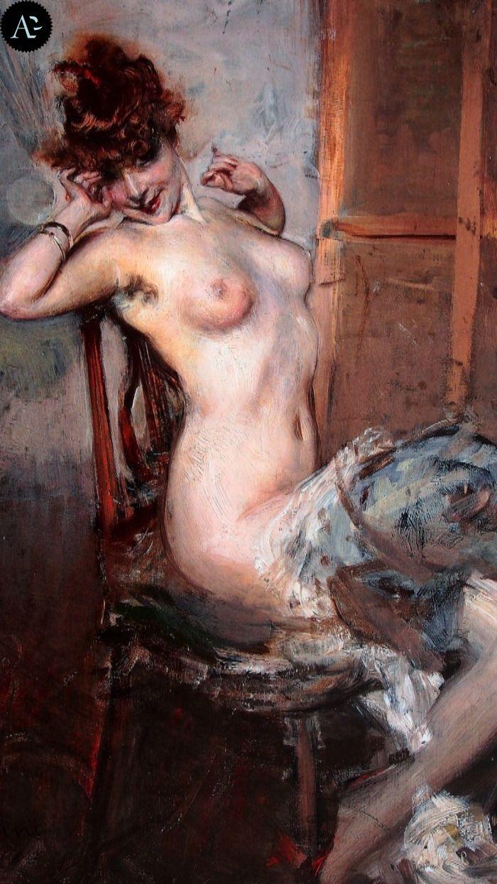 Giovanni Boldini | nudo di donna seduta