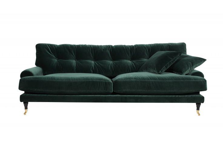 Andrew-soffa-grön-sammet