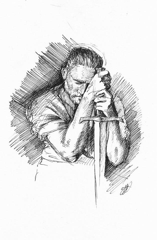 King Aurthur. Drawing. #inktober 26