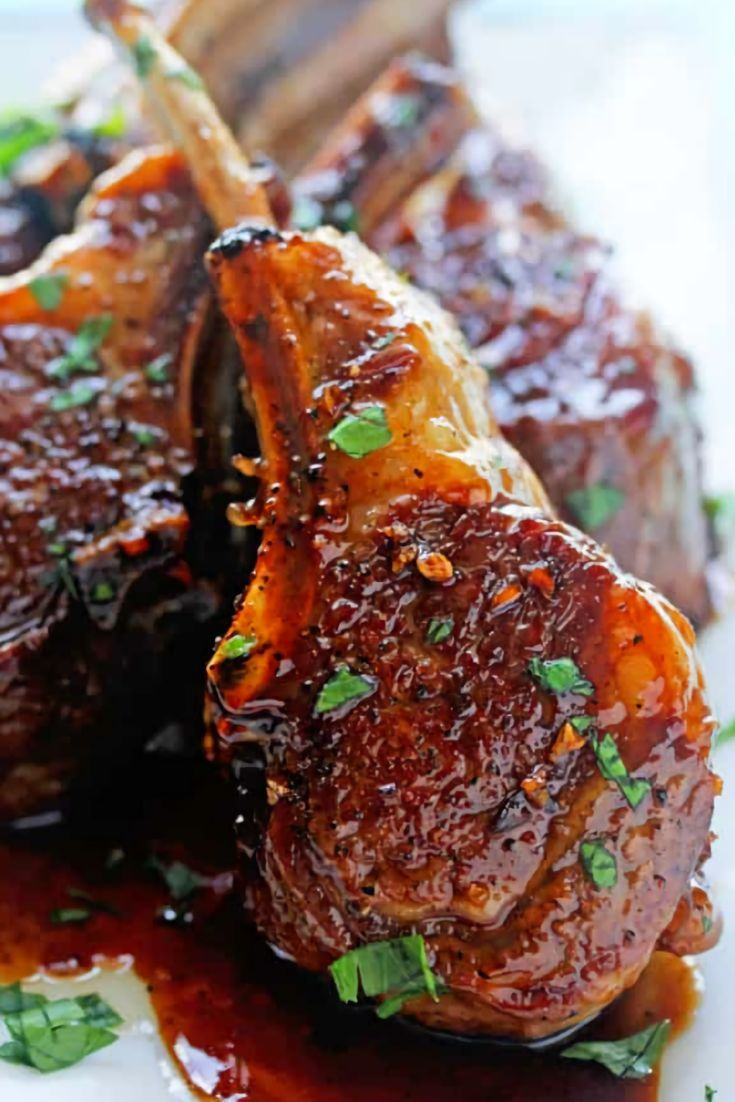 Balsamic Brown Sugar Lamb Chops Is A Perfect Complement Especially When Paired With Balsamic Vinegar Savory Baked Lamb Recipes Lamb Chop Recipes Lamb Dinner