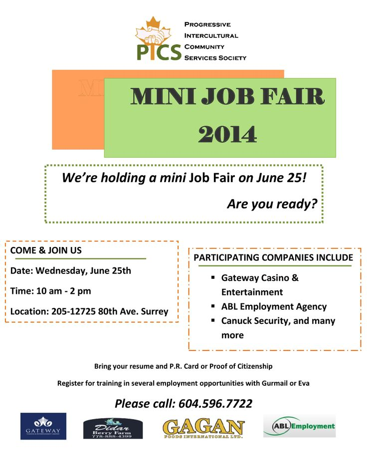 PICS Mini Job Fair!