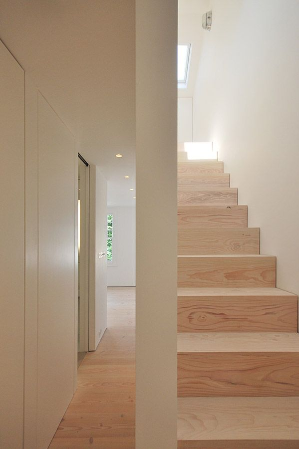 Dinesen Floor, Luxury Minimalist Interior , House Refurbishment , Stair , Queens Park , London , LBMVarchitects