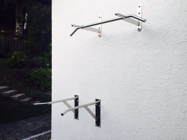 Klimmzugstange W2 und Dip-Stangen an Wand
