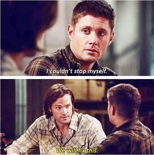 """""""I couldn't stop myself"""" """"We will fix this"""" ///10x10 The Hunter Games /// I love so much when Sam protects his big brother, and he said """"WE"""". He always says """"we can do this"""", he never ever would leave his brother alone. How not to love them?"""