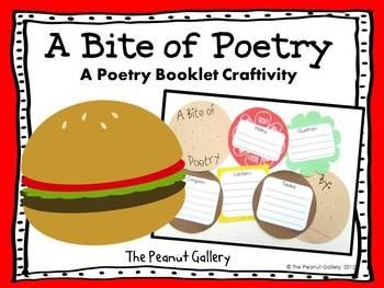Here's a unique and fun way for your students to learn about and write five different kinds of poetry. This poetry booklet activity is a great way to culminate a poetry unit or provide students with an independent poetry project. ($)