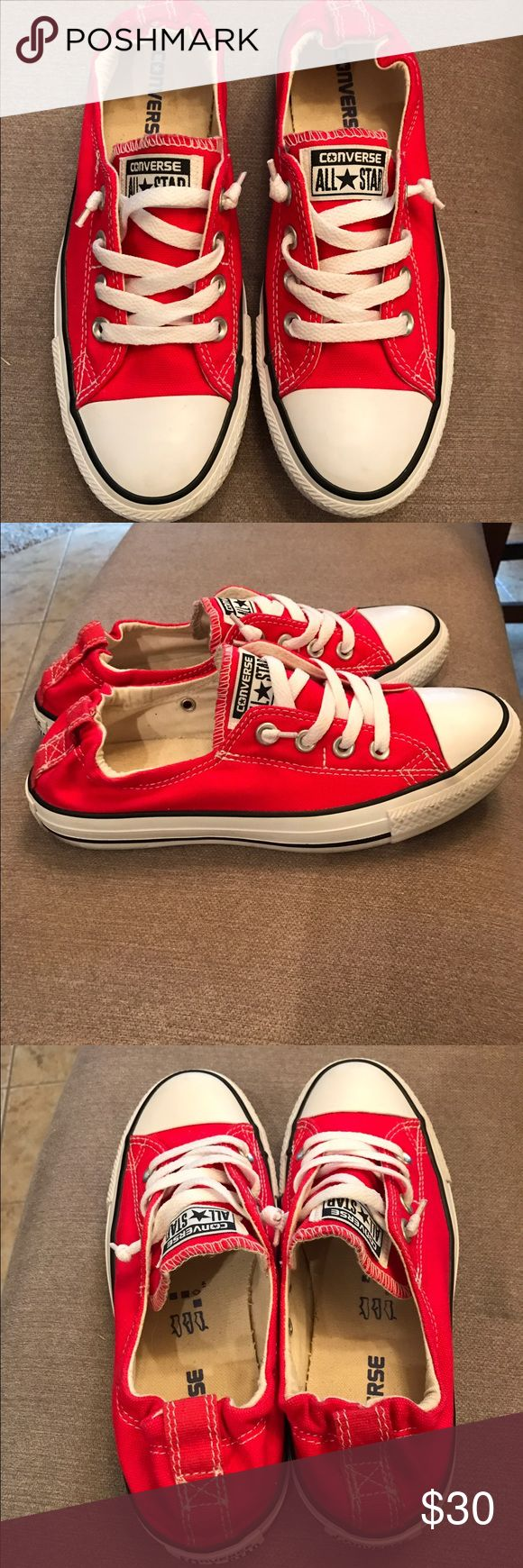 Converse Chuck Taylor All Star shoreline sneakers Red converse sneakers in great condition. Converse Shoes Sneakers